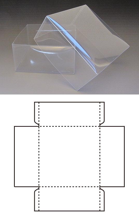 オリジナルのクリアボックスのご注文はハコバナへ シルク印刷・箔押しも対応