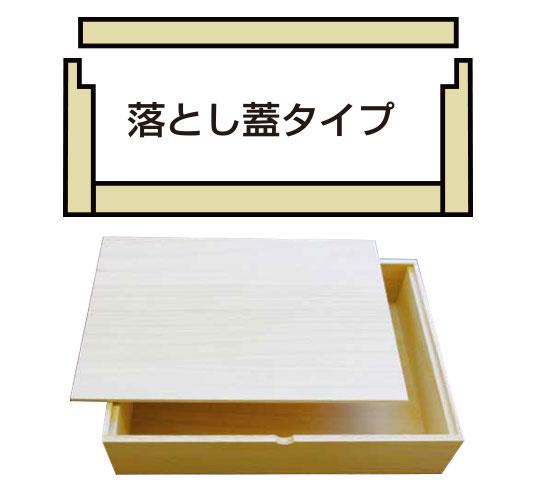 落とし蓋タイプ オリジナル木箱はハコバナで
