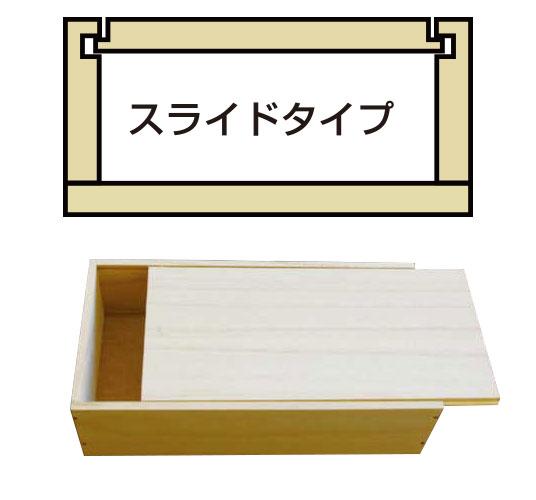 スライドタイプ オリジナル木箱はハコバナで