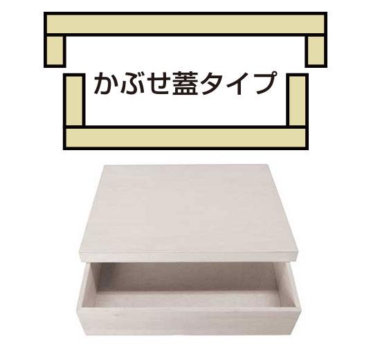 かぶせ蓋タイプ オリジナル木箱はハコバナで